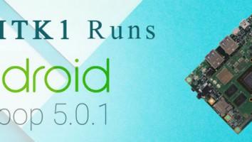 eSOMTK1 now runs Android Lollipop