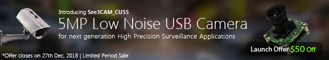 5MP Low Noise USB Camera