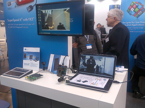 e-con demo at embeddedworld 2013 Nuremberg, Germany