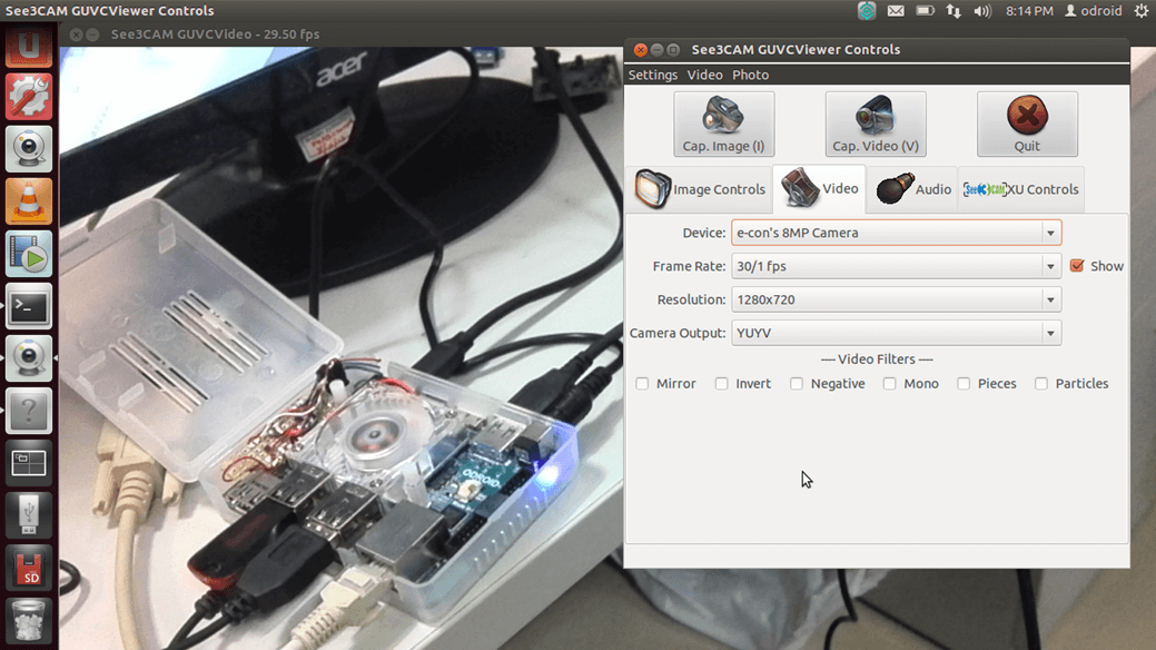 See3CAMs on ODROID-XU (ARM) over USB 3 0