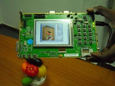 TI EVM board running the viewfinder application