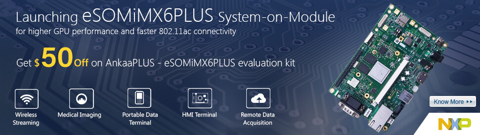 eSOMiMX6PLUS - i.MX6 Quad Plus/Dual Plus System on Module