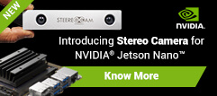 2MP Stereo Camera for NVIDIA® Jetson Nano™/AGX Xavier™/TX2